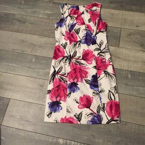 Dress Barn floral dress size 10 petite